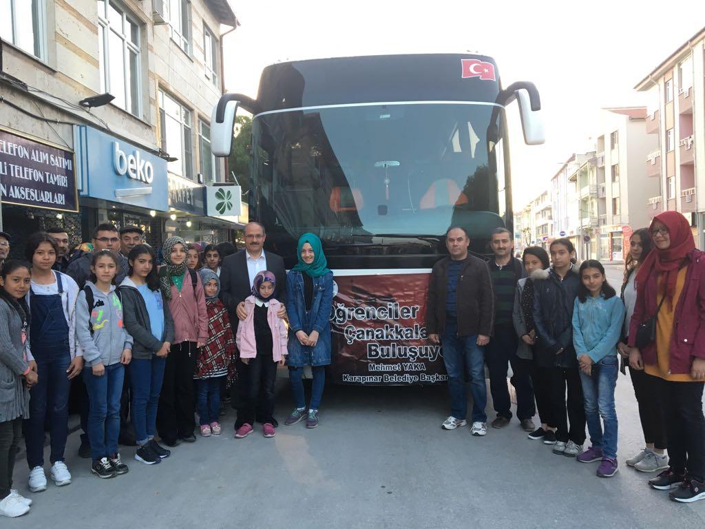 Öğrenciler Çanakkaleye götürüldü