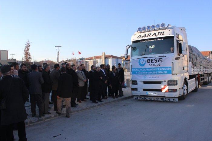 Beşir derneğinden Türkmenlere yardım eli