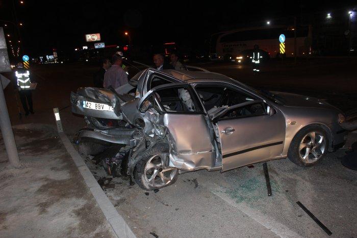Trafik kazası.5 yaralı