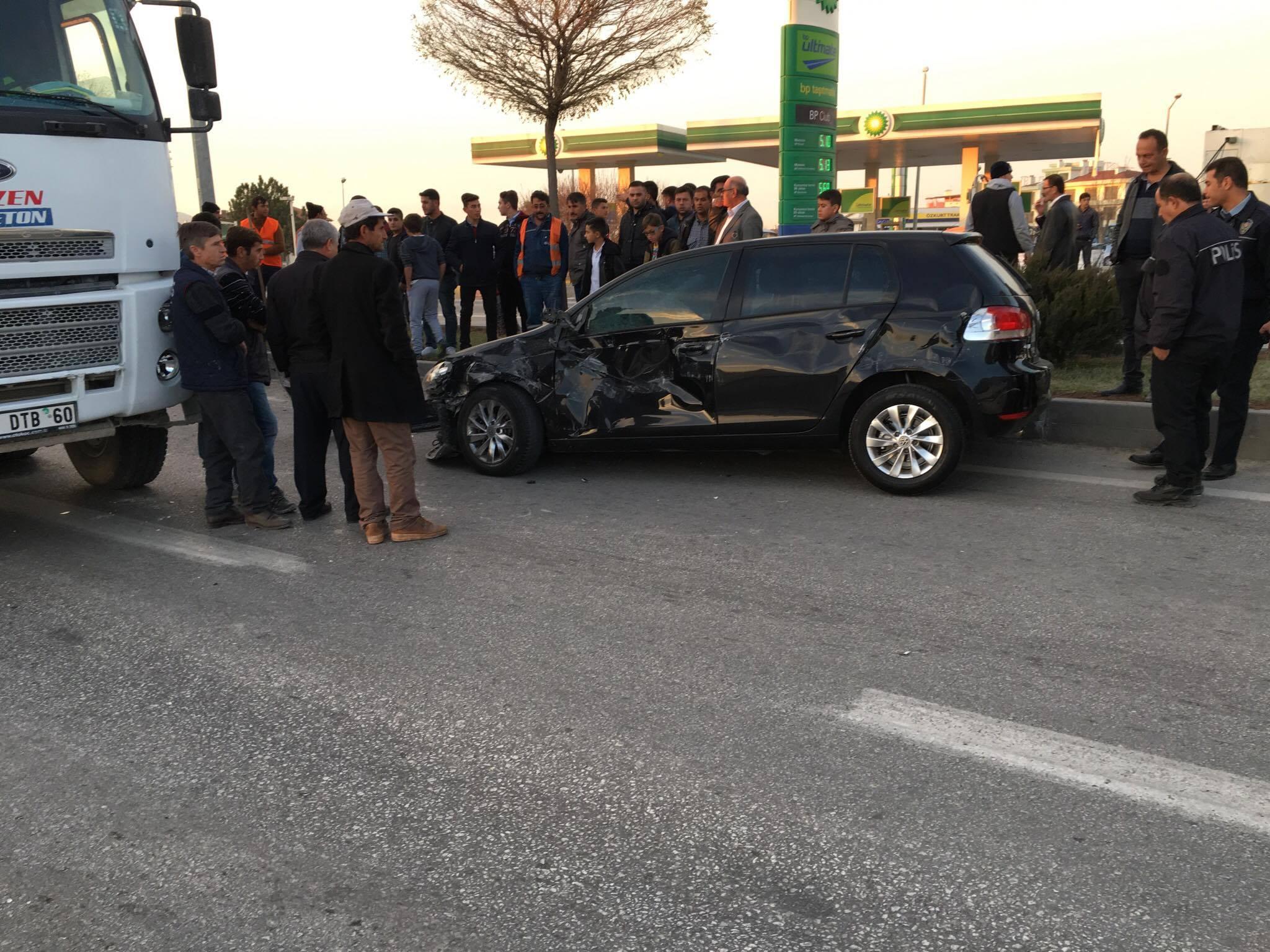 Trafik kazası:3 hafif yaralı