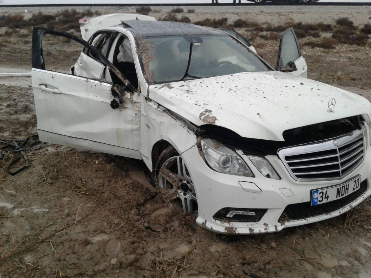 Asker çocuklarını görmeye gelirken kaza yaptılar:6 yaralı