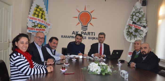 AK parti basın ile bir araya geldi